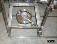Stainless steel stand and burner for Hot Liquor Tank
