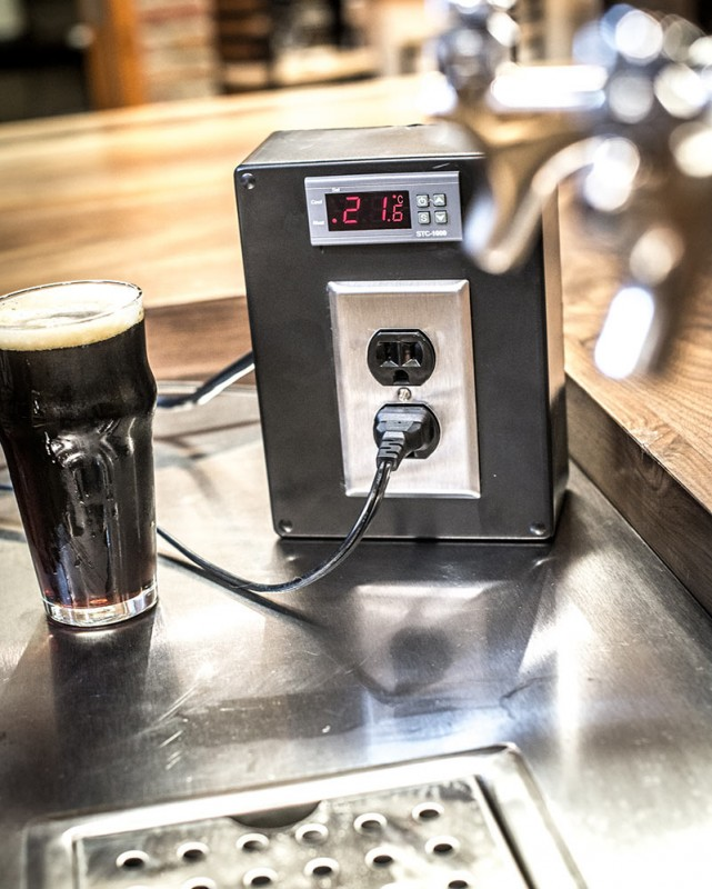 How to build a temperature controller american for Build your own walk in beer cooler